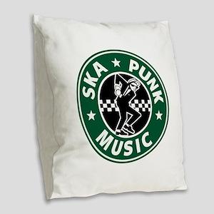 SKA PUNK MUSIC Burlap Throw Pillow