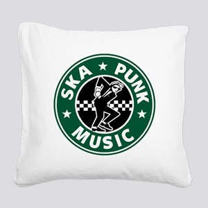 SKA PUNK MUSIC Square Canvas Pillow