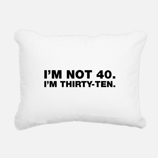 40th birthday Rectangular Canvas Pillow