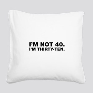 40th birthday Square Canvas Pillow