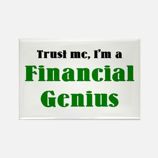 financial genius Rectangle Magnet