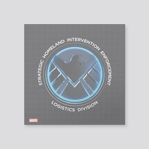 "MAOS Dark Shield Square Sticker 3"" x 3"""