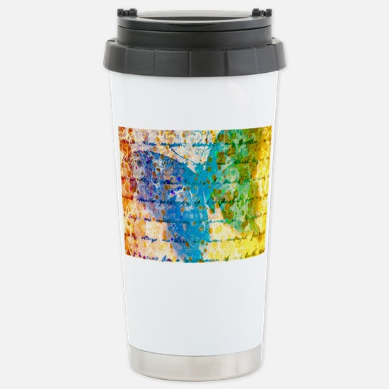 Colorful vintage butterfly Travel Mug