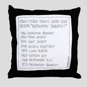 Respiratory Therapist History Throw Pillow