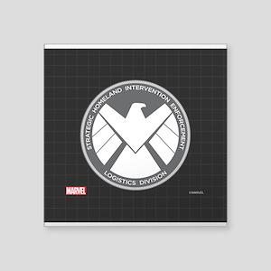 """MAOS White Eagle Square Sticker 3"""" x 3"""""""
