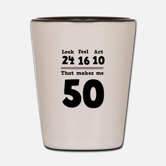 Age 50 Breakdown Shot Glass
