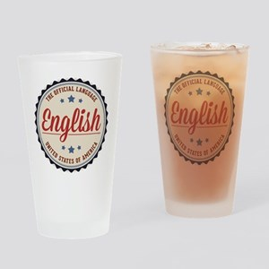 USA Official Language Drinking Glass