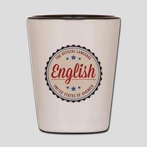 USA Official Language Shot Glass