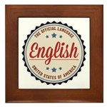 USA Official Language Framed Tile