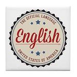 USA Official Language Tile Coaster