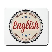 USA Official Language Mousepad