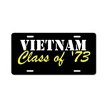 Vietnam Class Of 1973 Aluminum License Plate