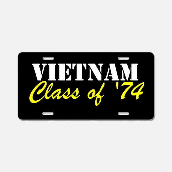 Vietnam Class Of 1974 Aluminum License Plate