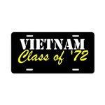 Vietnam Class Of 1972 Aluminum License Plate