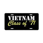 Vietnam Class Of 1971 Aluminum License Plate
