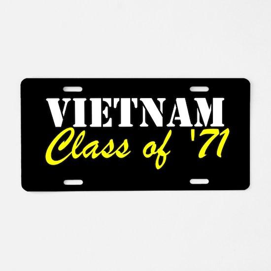 Vietnam Class Of 1971 Aluminum License Plate