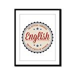 USA Official Language Framed Panel Print