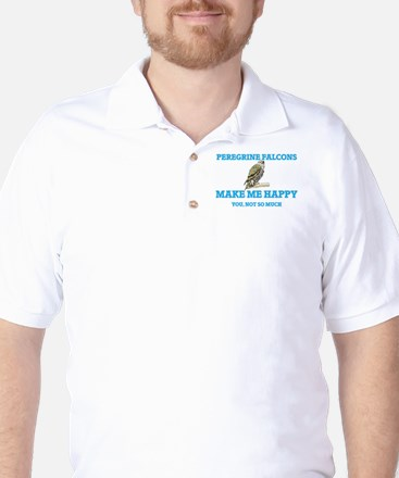 Peregrine Falcons Make Me Happy Golf Shirt