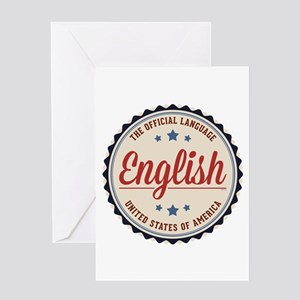 USA Official Language Greeting Cards