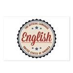 USA Official Language Postcards (Package of 8)