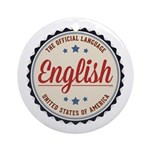 USA Official Language Ornament (Round)
