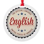 USA Official Language Ornament