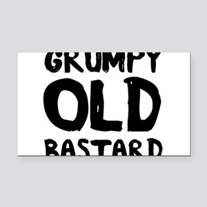 Grumpy Old Bastard Rectangle Car Magnet