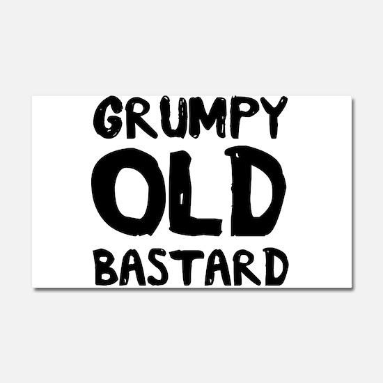 Grumpy Old Bastard Car Magnet 20 x 12