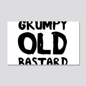 Grumpy Old Bastard Wall Decal