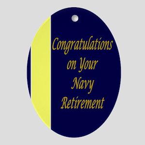 Navy Retirement Congratul Ornament (Oval)