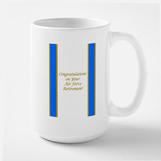 Air Force Retirement Congratulations Large Mug