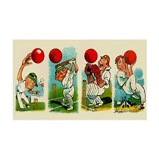 Cricket Players Wall Decal