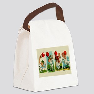 Cricket Players Canvas Lunch Bag