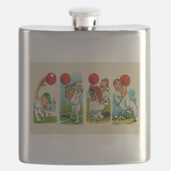 Cricket Players Flask