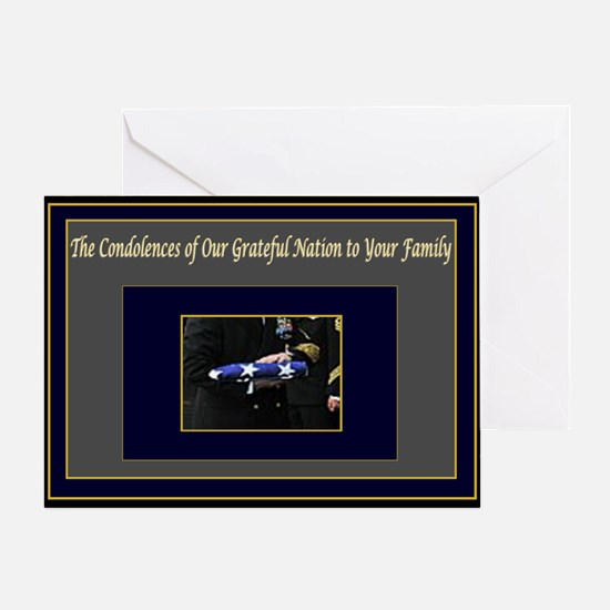 Military Condolences Greeting Card