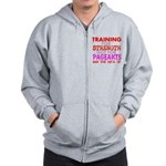 Training for Strength Not For Pageants Zip Hoodie