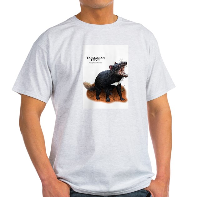 Tasmanian Devil Light T Shirt Tasmanian Devil T Shirt