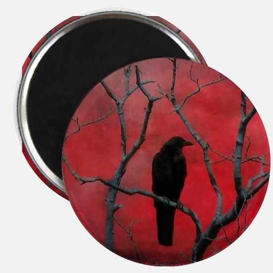 Unique Raven bird Magnet