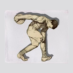 Discus Thrower Throw Blanket