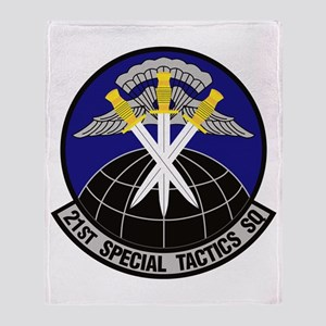 21st Special Tactics Squadron Throw Blanket