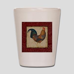 Red Rooster vintage Shot Glass