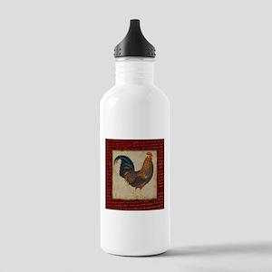 Red Rooster vintage Water Bottle