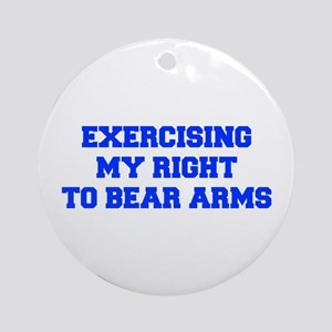 exercising-my-right-to-bear-arms-fresh-blue Orname