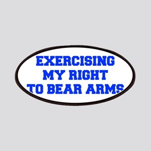exercising-my-right-to-bear-arms-fresh-blue Patche