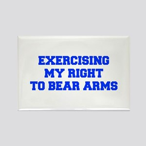 exercising-my-right-to-bear-arms-fresh-blue Magnet