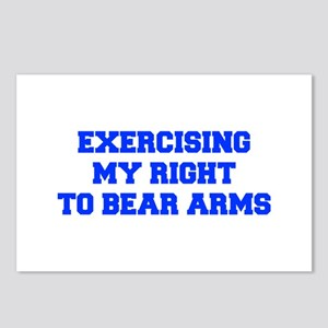 exercising-my-right-to-bear-arms-fresh-blue Postca