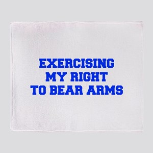 exercising-my-right-to-bear-arms-fresh-blue Throw