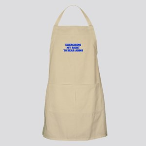 exercising-my-right-to-bear-arms-fresh-blue Apron