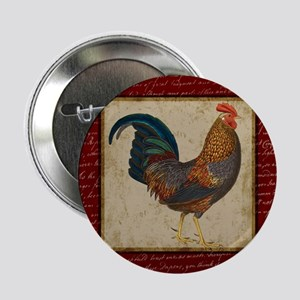 "Red Rooster Vintage 2.25"" Button"