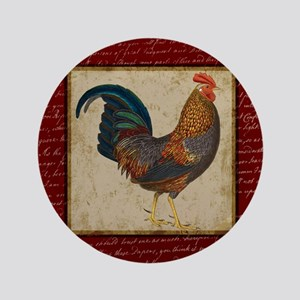 "Red Rooster Vintage 3.5"" Button"